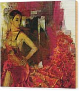 Flamenco Dancer 024 Wood Print