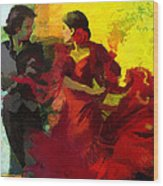 Flamenco Dancer 025 Wood Print by Catf