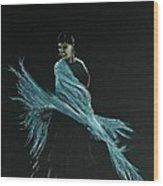 Flamenco Dancer In Shawl Wood Print by Martin Howard