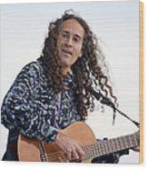 Flamenco Guitarist Wood Print