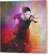 Flamencoscape 03 Wood Print