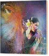 Flamencoscape 04 Wood Print