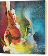 Flamencoscape 08 Wood Print