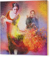 Flamencoscape 11 Wood Print