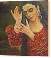 Flamenfo Girl 2 Wood Print
