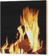 Flames In The Dark Wood Print