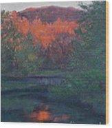 Flames Of Fall At Catfish Corner Wood Print