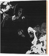 Flames Of Revenge Wood Print