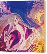 Flaming Colors Wood Print