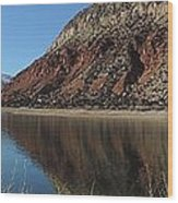 Flaming Gorge Winter Wood Print