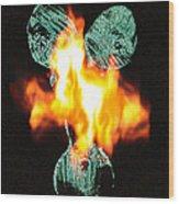 Flaming Personality Wood Print