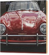 Flaming Red Porsche Wood Print
