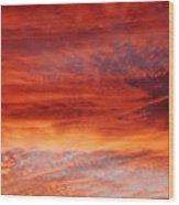 Flaming Sky Wood Print