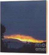 Flaming Sunrise I Wood Print