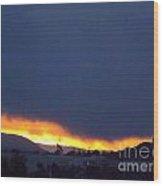 Flaming Sunrise II Wood Print
