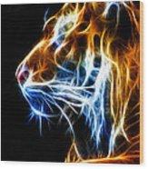 Flaming Tiger Wood Print
