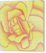 Flaming Yellow Rose Wood Print