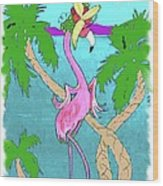 Flamingo Miranda Wood Print