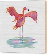 Flamingo Wings Wood Print