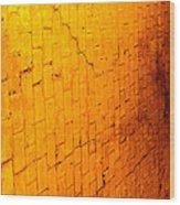 Flamming Brick Wall Wood Print
