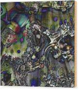 Flash Descent Wood Print