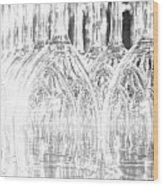 Flash Of Light On Glass Wood Print
