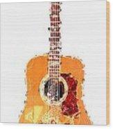 Flashy Guitar Wood Print