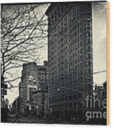 Flat Iron Building Fifth Avenue And Broadway Wood Print