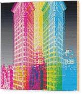 Flat Iron Pop Art Wood Print by Gary Grayson