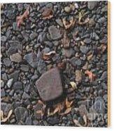Flat Skipping Stones Wood Print