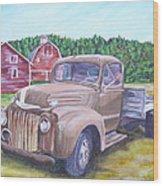 Flathead Monster Truck Wood Print