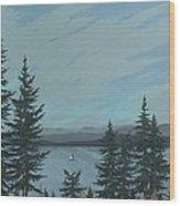 Flathead Sailboat Wood Print
