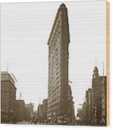 Flatiron Building New York City Circa 1904 Wood Print