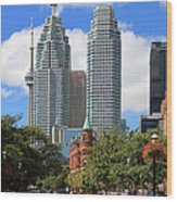 Flatiron Building Toronto 2 Wood Print