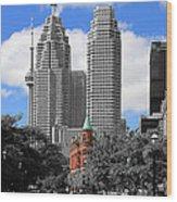Flatiron Building Toronto 2c Wood Print