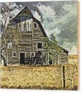 Flatland Farm Wood Print