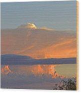 Flattop Sunset Cloud Wood Print