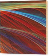 Flaunting Colors Wood Print