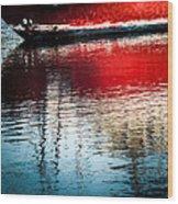 Red Boat Serenity Wood Print