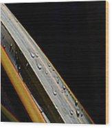 Flax Droplets Wood Print