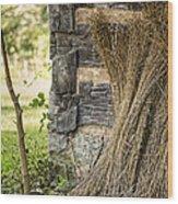 Flax Wood Print by Heather Applegate