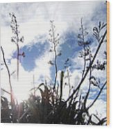 Flax Light Wood Print