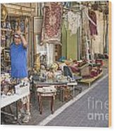 Flea Market Shop In Tel Aviv Israel Wood Print