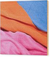 Fleece Material Wood Print