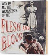 Flesh And Blood, Top L-r Richard Todd Wood Print