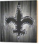 Fleur De Light Wood Print