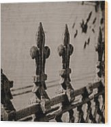Fleur-de-lis - Monochrome Wood Print