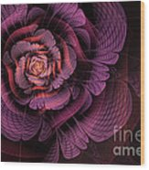 Fleur Pourpre Wood Print by John Edwards