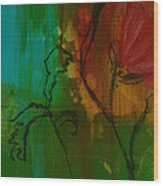 Fleur Wood Print