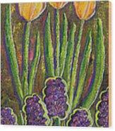 Fleurs D' Tulips And Hyacinths Wood Print